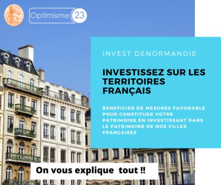investissment denormandie. optimisme23